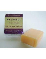 Antioxidant Rich Pomegranate Extract - Bennett Extra White Whitening Soap Anti-oxidant Rich Grape Seed Extract, Pomegranate Extract and Alpha Arbutin 130 G