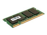 Crucial 2GB 0.8GHz PC2-6400 DDR2 SO-DIMM Unbuffered Non-ECC Laptop Memory Green CT25664AC800