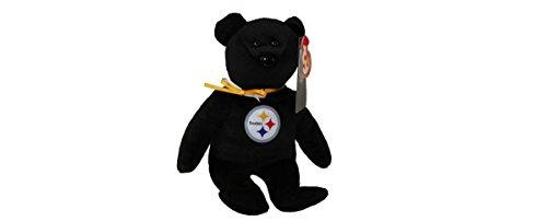 Pittsburgh Steelers Teddy Bear - Pittsburgh Steelers NFL TY Beanie Baby Teddy Bear Plush 8.5
