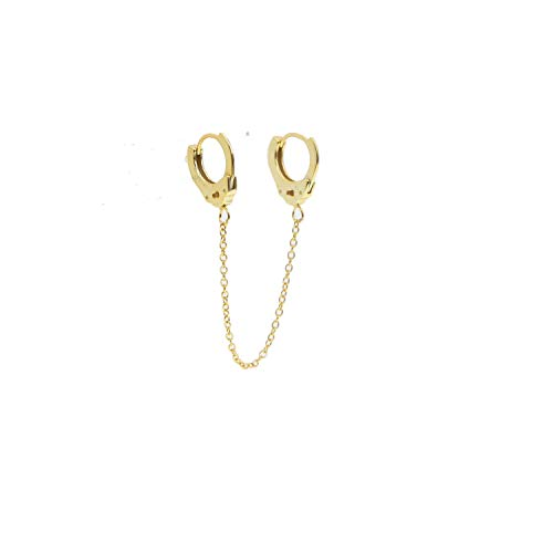 Earrings Handcuffs Dangle Drop Earrings For Men And Womens Carved Handcuffs Earings real 925 -