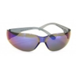 (Starlite Safety Glasses, Gray Temple, Blue Mirror Lens, Ultra Lightweight, 469M)