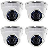(4X) LTS CMHT2122-28 HD-TVI 2.1MP 1080P 2.8mm Smart IR LED 65ft Security Camera