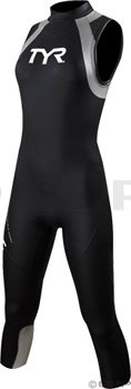 TYR Sport Women's Category 1 Hurricane Sleeveless Wetsuit-Black-Small by TYR