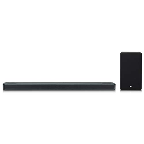 LG SL8YG 3.1.2 Channel High Res Audio Sound Bar w/Meridian Technology, Dolby Atmos and Google Assistant Built-in, Black