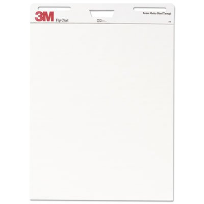 Professional Flip Chart Pad, Unruled, 25 x 30, White, 40 Sheets, 2/Carton, Sold as 2 Pad