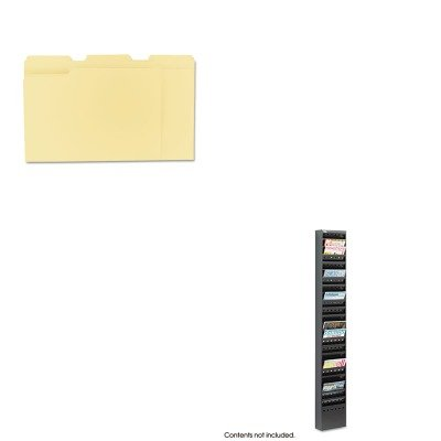 KITSAF4322BLUNV12113 - Value Kit - Safco Steel Magazine Rack (SAF4322BL) and Universal File Folders (UNV12113)