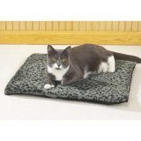 "Slumber Pet Thermal Cat Mat (Grey w/Black Designs) 22"" x 18 1/2"""