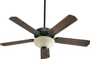 Quorum 77525-9495, Capri III Old World 52″ Ceiling Fan with Light For Sale