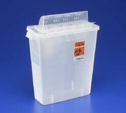Units Per Case 10 Sharps - Sharpes Container 3gal Red Inroom Units Per Case 10 KENDALL HEALTHCARE PROD. 85221R by Kendall/Covidien by Kendall/Covidien