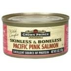 Crown Prince Natural Skinless & Boneless Pacific Pink Salmon - 6 oz