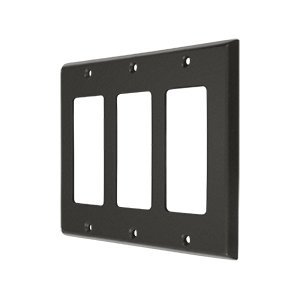Deltana Oil Rubbed Switchplate - Deltana SWP4740 Triple GFI Switch Plates, Oil Rubbed Bronze