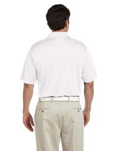 adidas Golf Mens Climalite Textured Short-Sleeve Polo (A161) -White -L