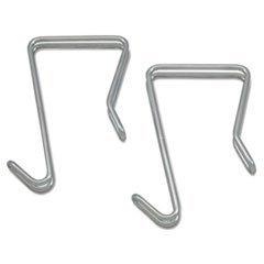 * Single Sided Partition Garment Hook, Silver, Steel, 2/PK (Single Sided Hook)