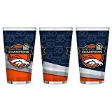 Boelter Denver Broncos - Super Bowl 50 Champions 16 oz. Sublimated Pint Glass