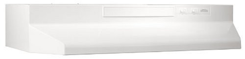Broan-NuTone White Broan F403011 Two-Speed Four-Way Convertible Range Hood, 30-Inch
