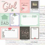 Girl Paper 12x12 (Scrapbook Customs Newborn Baby Girl 12 x 12 Double-Sided Scrapbook Paper - 1 Sheet (36971))