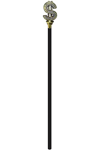 Forum Novelties Dollar Sign Pimp Cane-Standard -