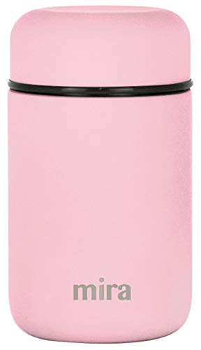 MIRA Lunch, Food Jar | Vacuum Insulated Stainless Steel Lunch Thermos | 13.5 oz | Rose Pink (Stainless Jar Food)
