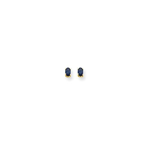 Top 10 Jewelry Gift 14k Sapphire Post Earrings