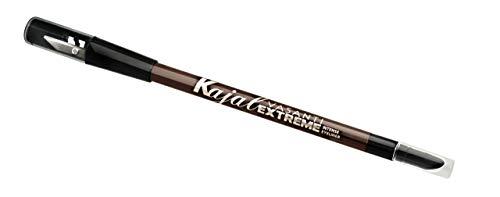 Kajal Extreme Eyeliner Pencil by VASANTI - Eyeliner with Built In Sharpener and Smudger - Waterproof, Paraben Free (Charcoal Brown) (Best Eyeliner Pencil 2019)