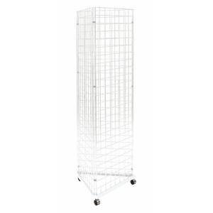 3-Sided Wire Grid Rack, 24 x 24 x 78 by Retail Resource