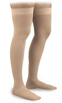 Activa Graduated Therapy Unisex Thigh Highs w/ Uni-Band Top 20-30 mmHg Medium Beige - H3202