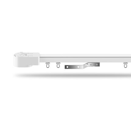 Track for Automatic Curtain system Electric Remote Controlled Drapery System (11-125 inch, White)
