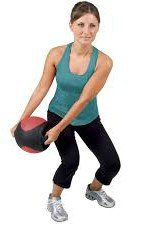 Exercise Equipment, Medicine Ball - 20 lbs., Dual Grip, Black and Olive by By Sports Home Design