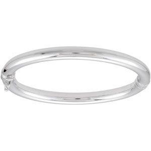 En argent sterling Bracelet jonc Bracelet à Charnière