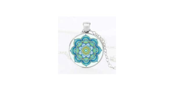 Amazon.com: Charm Yoga Mandala Women Necklace Sri Yantra ...
