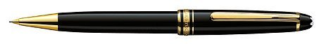 Mont Blanc 165-Meisterstuck Classique Gold Mechanical Pencil, Black-0.7 (12737)