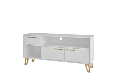 Manhattan Comfort 126AMC159 Doris Mid-Century Modern Living Room TV Stand White