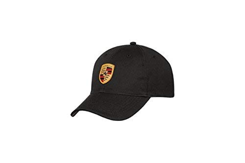 Porsche Black Crest Logo Cap, Official Licensed from Porsche