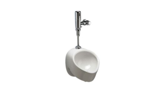 Zurn Z5708.205.00 1-Pint Per Flush High Efficiency Urinal System Top Spud Small Footprint Urinal with Exposed Battery Flush Valve