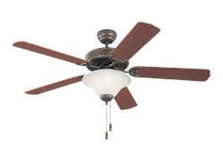 Monte Carlo 5HS52TBD-L, Homeowner Deluxe Ceiling Fan, 52'', Tuscan Bronze (Wall Fixture Triple Light Series)
