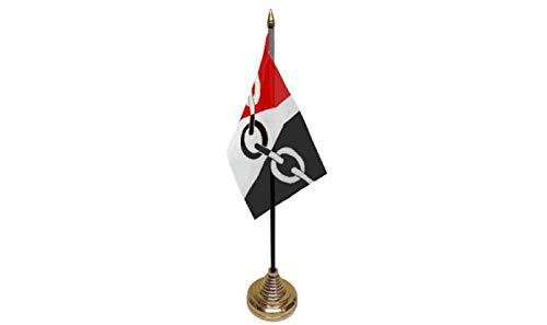 Flagmania® - Juego de 12 Banderas para Mesa de Escritorio y Base ...