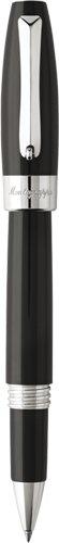 Montegrappa Fortuna Rollerball Pen - Black/Palladium ISFORRPC (Resin Ball Roller Trim Palladium)