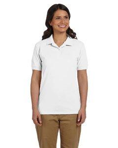 Gildan G948L Ladies 6.5 oz. DryBlend Pique Sport Shirt - WHITE - X-Large