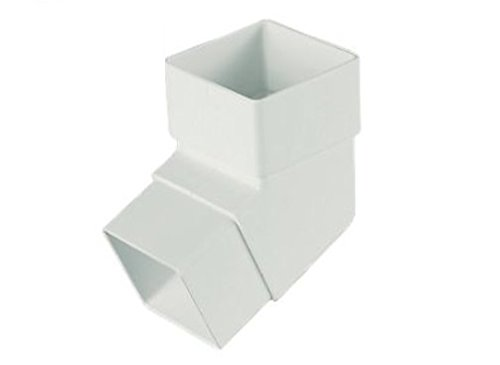 Rainwater Pipe Accessories - White Downpipe - Square Offset Bend Marshall Tufflex