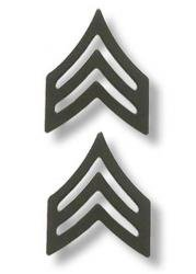 US Army Sergeant Black Collar Device Rank Insignia ()