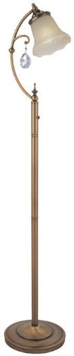 (Lite Source C61201 Floor Lamp with Amber Glass Shades, 61