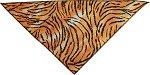 Mirage Pet Products 636-3 TIGLG Tiger Tie-On Print Bandana, Large