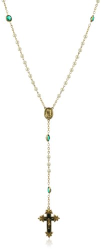 The Vatican Library Collection Green Crystal Limited Edition Gold-Tone Rosary