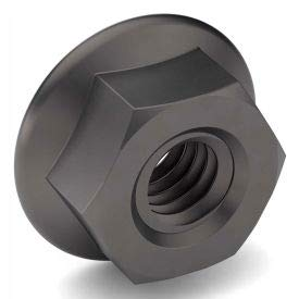 1/4-20 Serrated Hex Flange Nut - Case Hardened Steel - Zinc Clear Trivalent - Coarse - Pkg of 100 (Pack of 10)