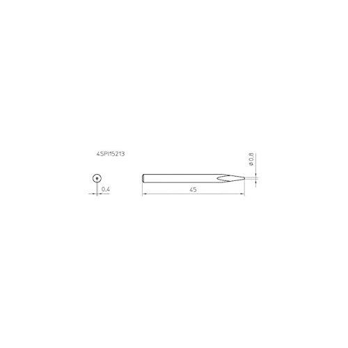 Panne de rechange 0.8mm Weller WHS 40 Weller Professional 4SPI15213-1