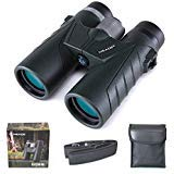 Meade 10x42 Binoculars for Adults, Compact HD Professional Waterproof Binoculars for Bird Watching Travel Stargazing Hunting Concerts Sports-BAK7 Prism FMC Lens-Army Green by Meade