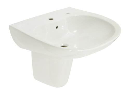 White Colonial Style Combination - TOTO LHT242G#11 Prominence Lavatory and Shroud with Single Hole, Colonial White