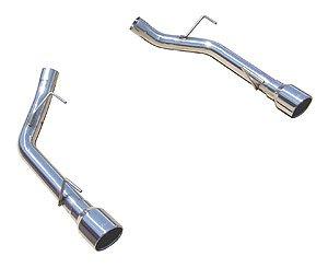 Gt Muffler (Pypes Exhaust SFM62SS 2005-10 Mustang GT Muffler Delete Axle Back Exhaust System)