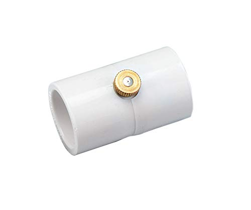 20 Pack (100 Total Couplings) Orbit 1/2 Inch PVC Coupling with Brass and Stainless Steel Mist Nozzle - 5 Pack