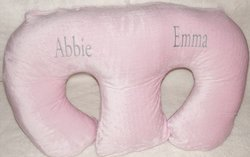 THE TWIN Z PILLOW - PINK The only 6 in 1 Twin Pillow Breastfeeding, Bottlefeeding, Tummy Time & Support! A MUST HAVE FOR TWINS! - CUDDLE PINK DOTS by Twin Z PIllow (Image #7)